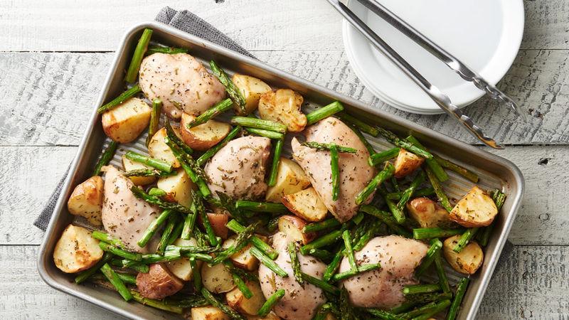 Rosemary Chicken and Potato Sheet-Pan Dinner
