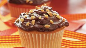 Gluten-Free Peanut Butter Cupcakes with Chocolate Frosting