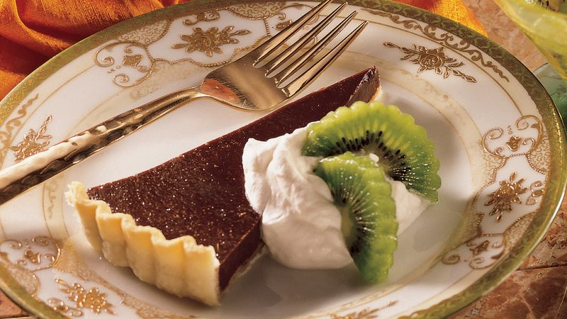 Bittersweet Chocolate Tart with Kiwi