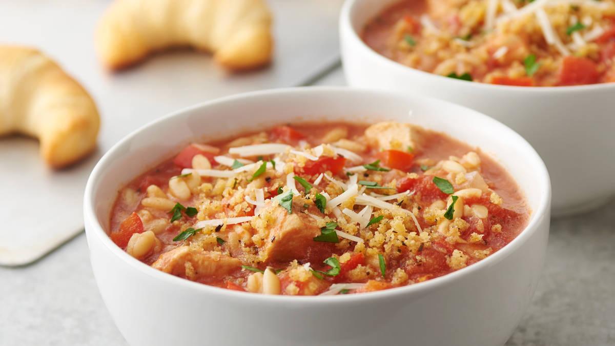 Slow-Cooker Chicken Parmesan Soup
