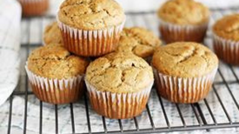 Banana-Peanut Butter Chia Seed Muffins