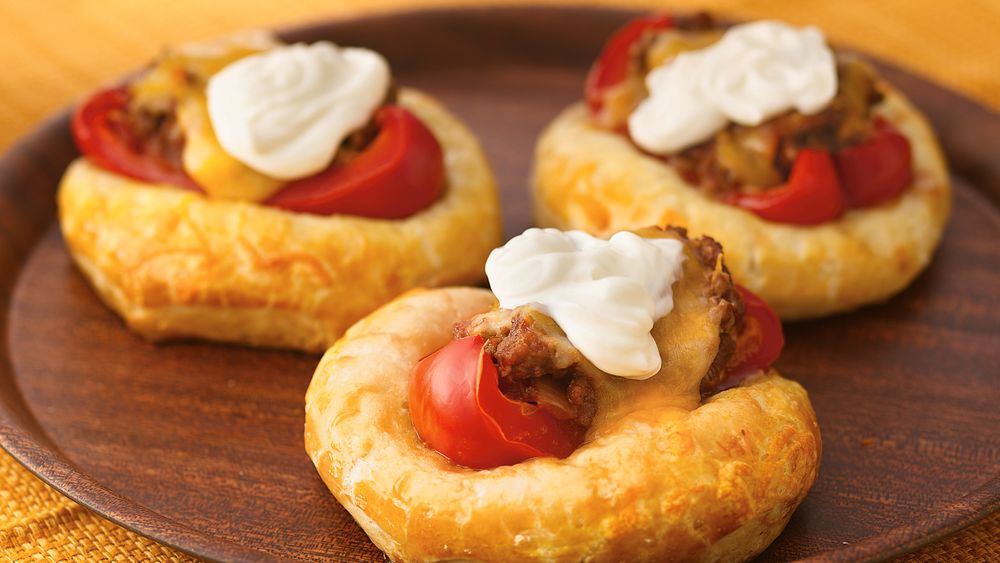 Mexican Stuffed-Pepper Biscuit Tostadas