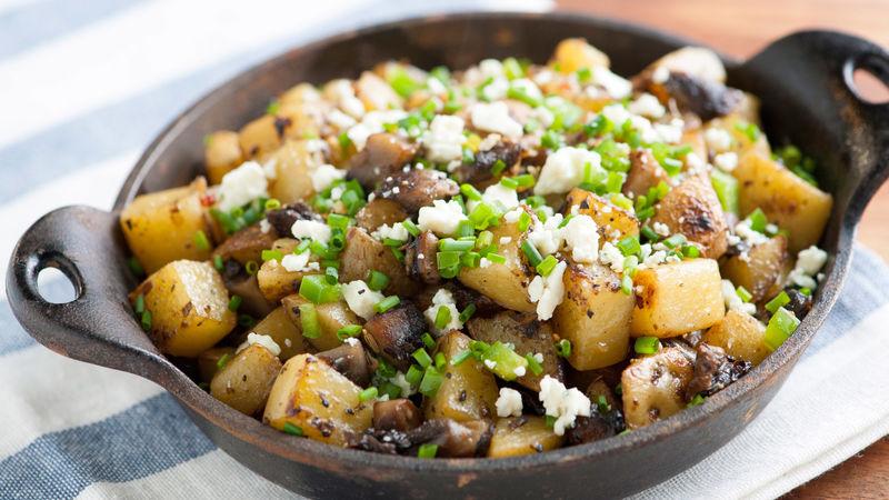 Spicy Portabella and Potato Hash
