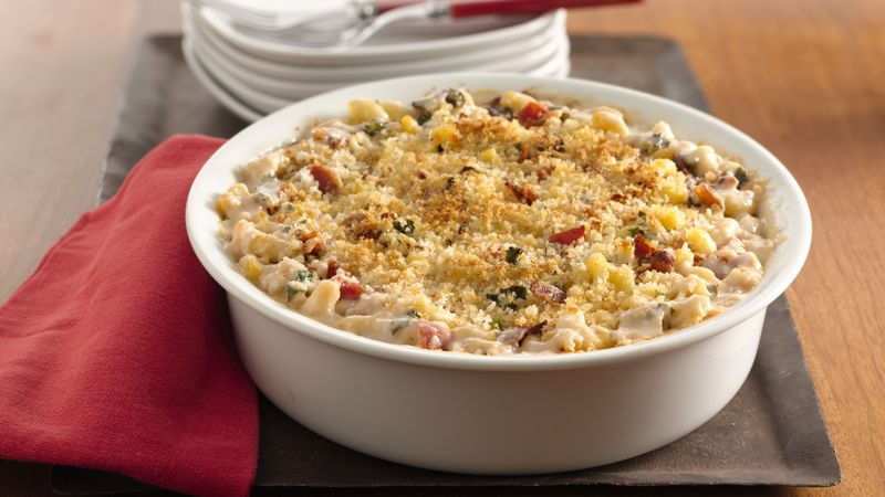 Bacon, Kale and Tomato Mac and Cheese