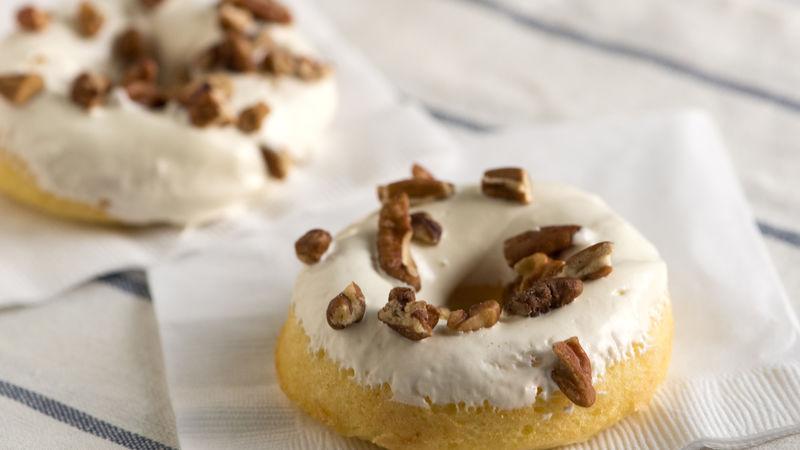 Baked Bourbon Doughnuts