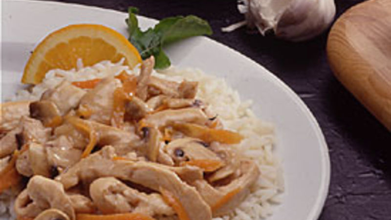 Orange Stir-Fried Chicken