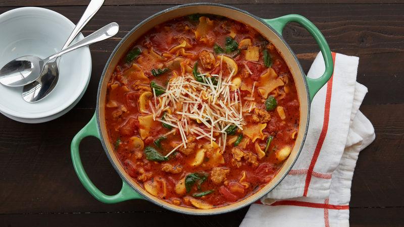 Sausage Lasagna Soup