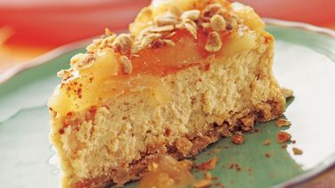 Apple Cinnamon Streusel Cheesecake