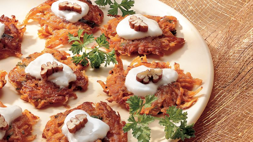 Mini Latkes de Camote