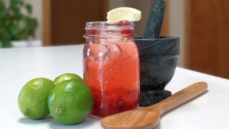 Fresh Cranberry Vodka Cocktail