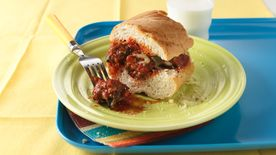 Knife and Fork Meatball Sandwiches
