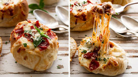 Pizza Stuffed Mini Bread Bowls