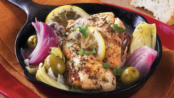 Slow-Cooker Mediterranean Braised Chicken