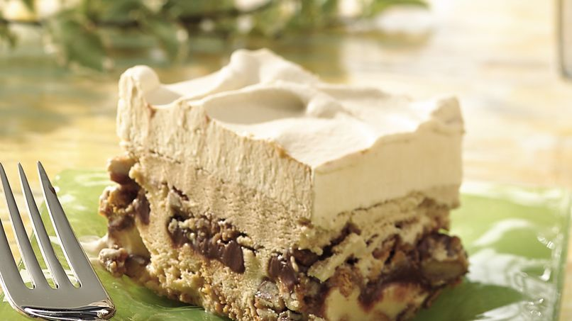 Dulce de Leche Pralines and Mocha Fudge Ice Cream Dessert