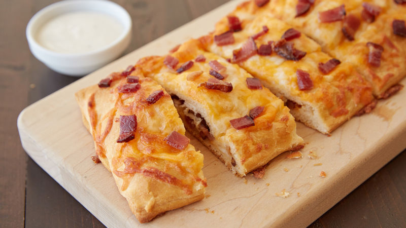 Chicken And Bacon Stuffed Crescent Bread Recipe Pillsbury Com