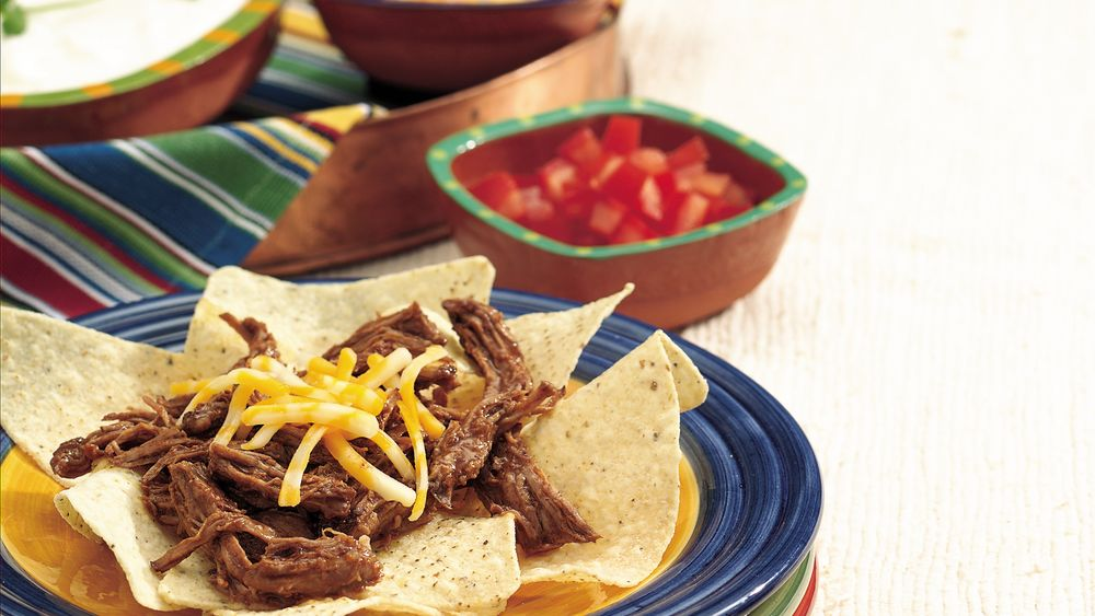 Slow-Cooker Shredded Beef Nachos