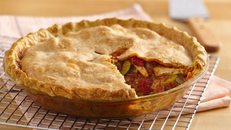 Chicken Souvlaki Pot Pie