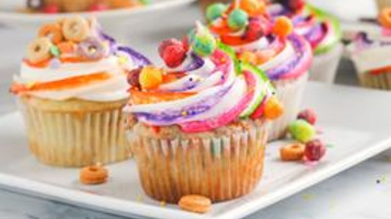 Bottom of the Cereal-Box Cupcakes