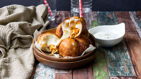 Cheesy Buffalo Chicken Bombs