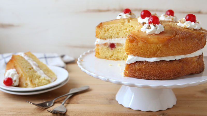 Pineapple Upside-Down Layer Cake