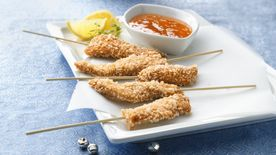 Asian Chicken Tenders with Zesty Lemon Sauce