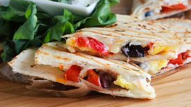 Skinny Greek Breakfast Quesadilla