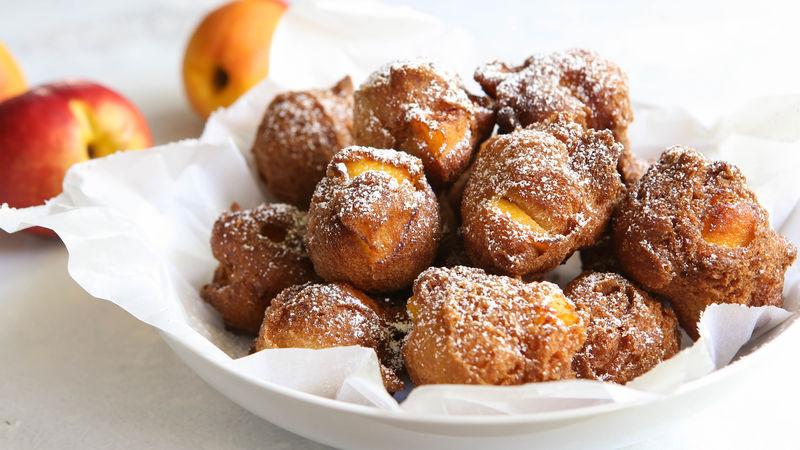 Peach-Cinnamon Fritters