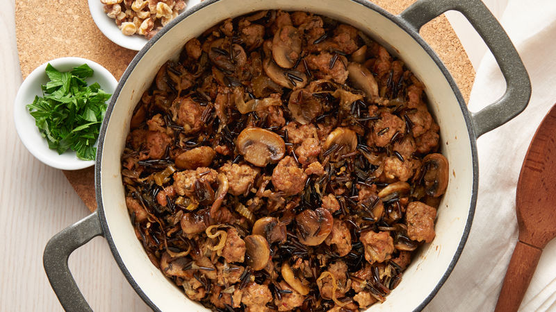 One-Pot Sausage & Mushroom Wild Rice