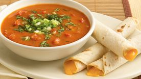 Creamy Bean Soup with Taquito Dippers