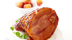 Guajillo-Rubbed Apricot Sage Glazed Ham