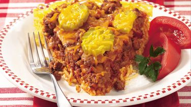 Cheeseburger Spaghetti Pie