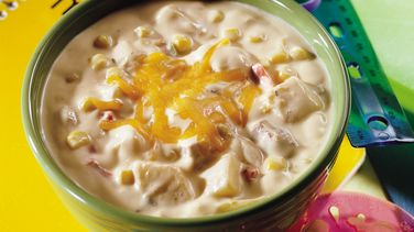 Cheesy Potato, Ham and Corn Chowder