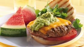Grilled Chipotle Burgers with Guacamole