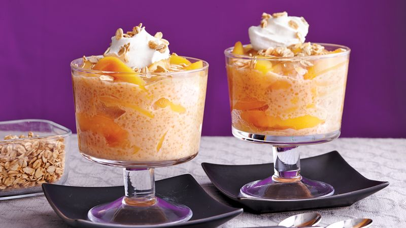 Slow-Cooker Peaches and Cream Tapioca