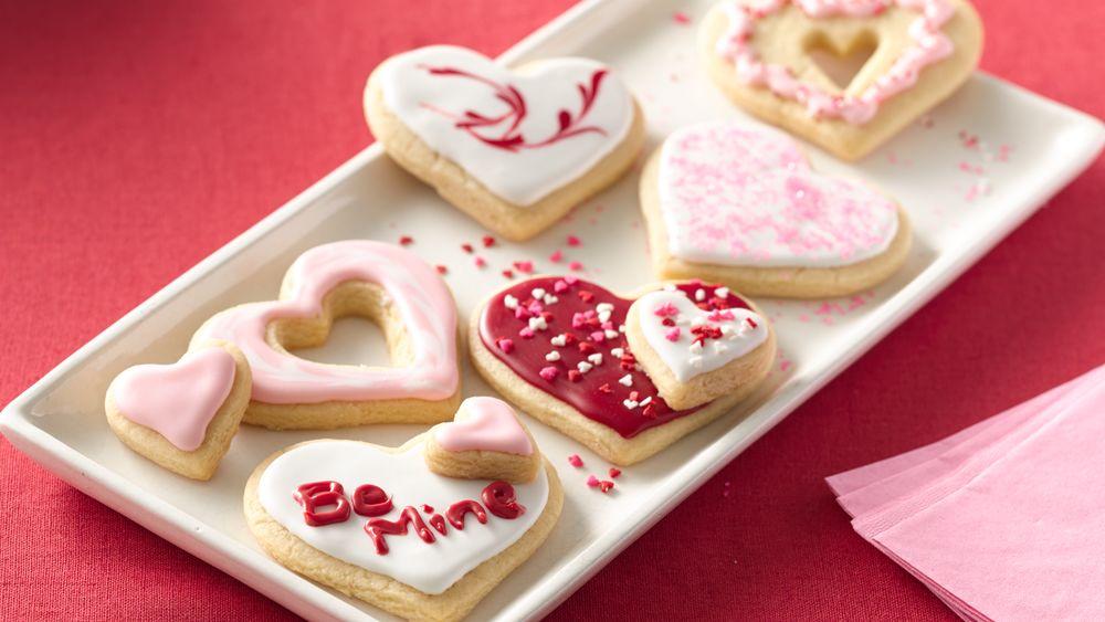 Sweet Heart Cutout Sugar Cookies