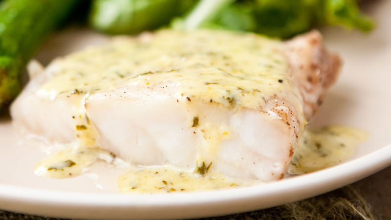 Grouper with lemon basil cream sauce recipe for Lemon fish sauce recipe