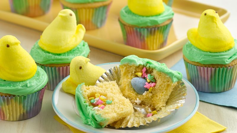 PEEPS® Chick Surprise-Inside Cupcakes Recipe - BettyCrocker.com
