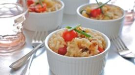 Lemony Garden Vegetable Risotto