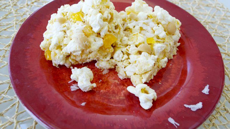 Barras de Popcorn con Chocolate Blanco