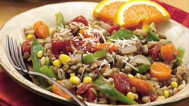 Lentil-Barley-Vegetable Skillet