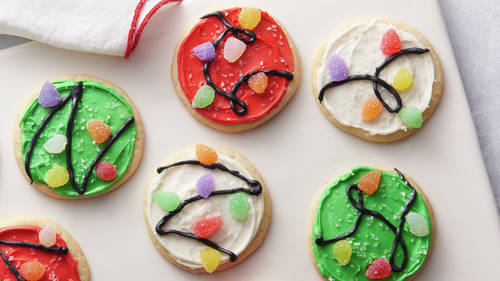 Christmas Lights Cookies