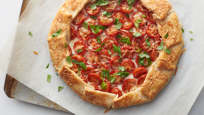 Roasted Tomato and Herbed Cheese Galette