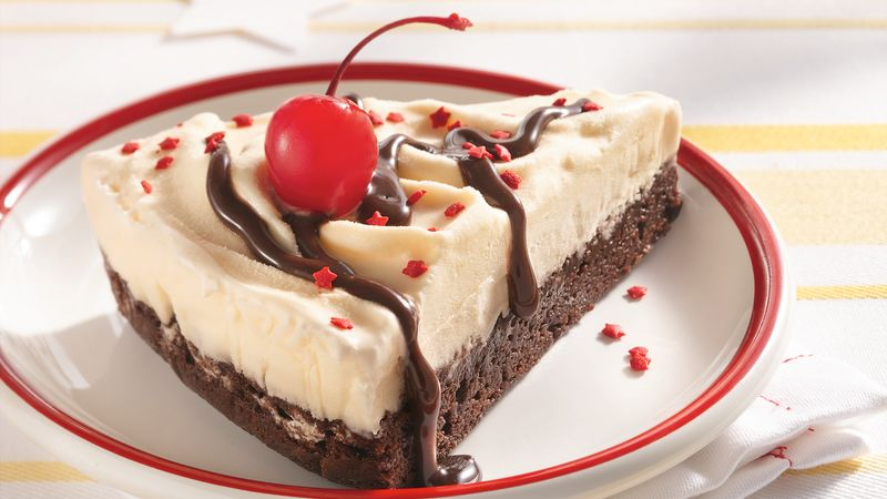 brownie ice cream cake brownie cake recipe bettycrocker 2096