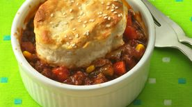Sloppy Joe Biscuit Pot Pies