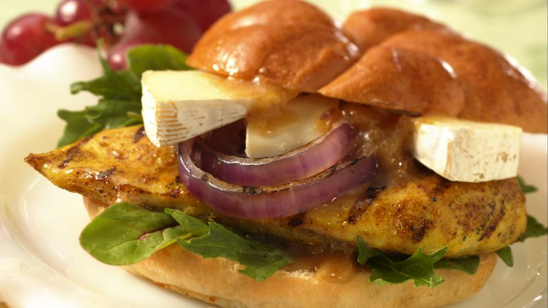 Grilled Chicken, Chutney and Brie Sandwiches