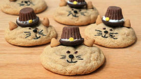 Thanksgiving Cat Cookies
