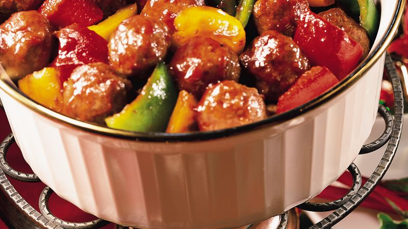 Sweet and Zesty Meatballs with Pepper Sauce