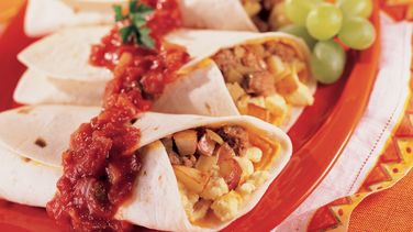 Country Scrambled Breakfast Burritos