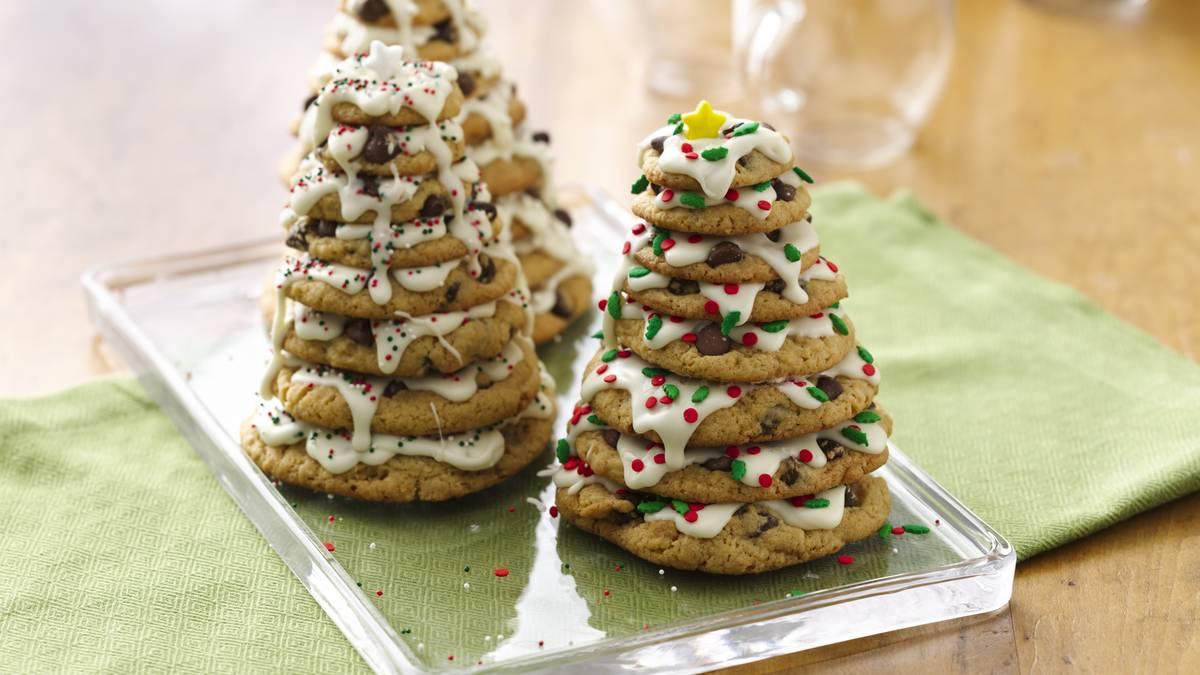 3D Christmas Tree Cookie Stacks