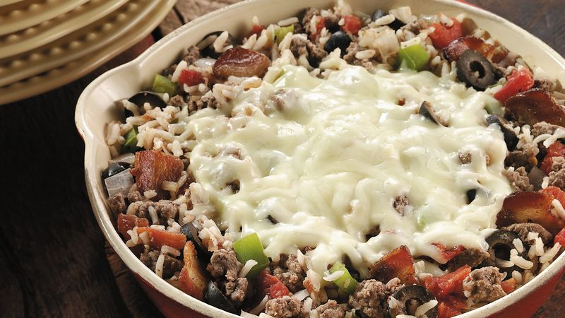 Italian Beef And Rice Skillet Recipe Bettycrocker Com